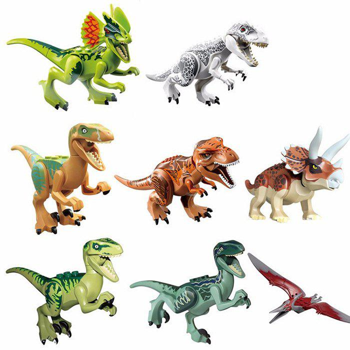 Buy 8 Box / Set Dinosaur Style Building Block Educational Movie Product Kid Toy COLORMIX
