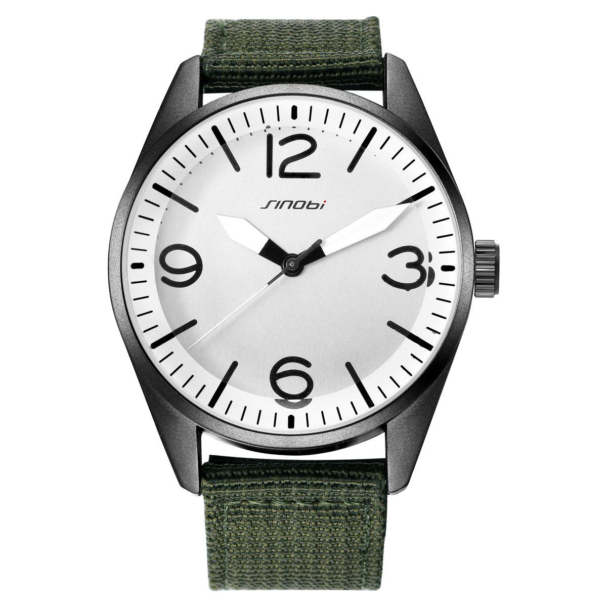 SINOBI Fashion Quartz Watch with Stereo Dial for Men, Green