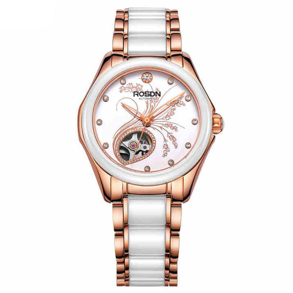 Buy ROSDN Fashion Female Automatic Mechanical Watch Sapphire Mirror ROSE GOLD