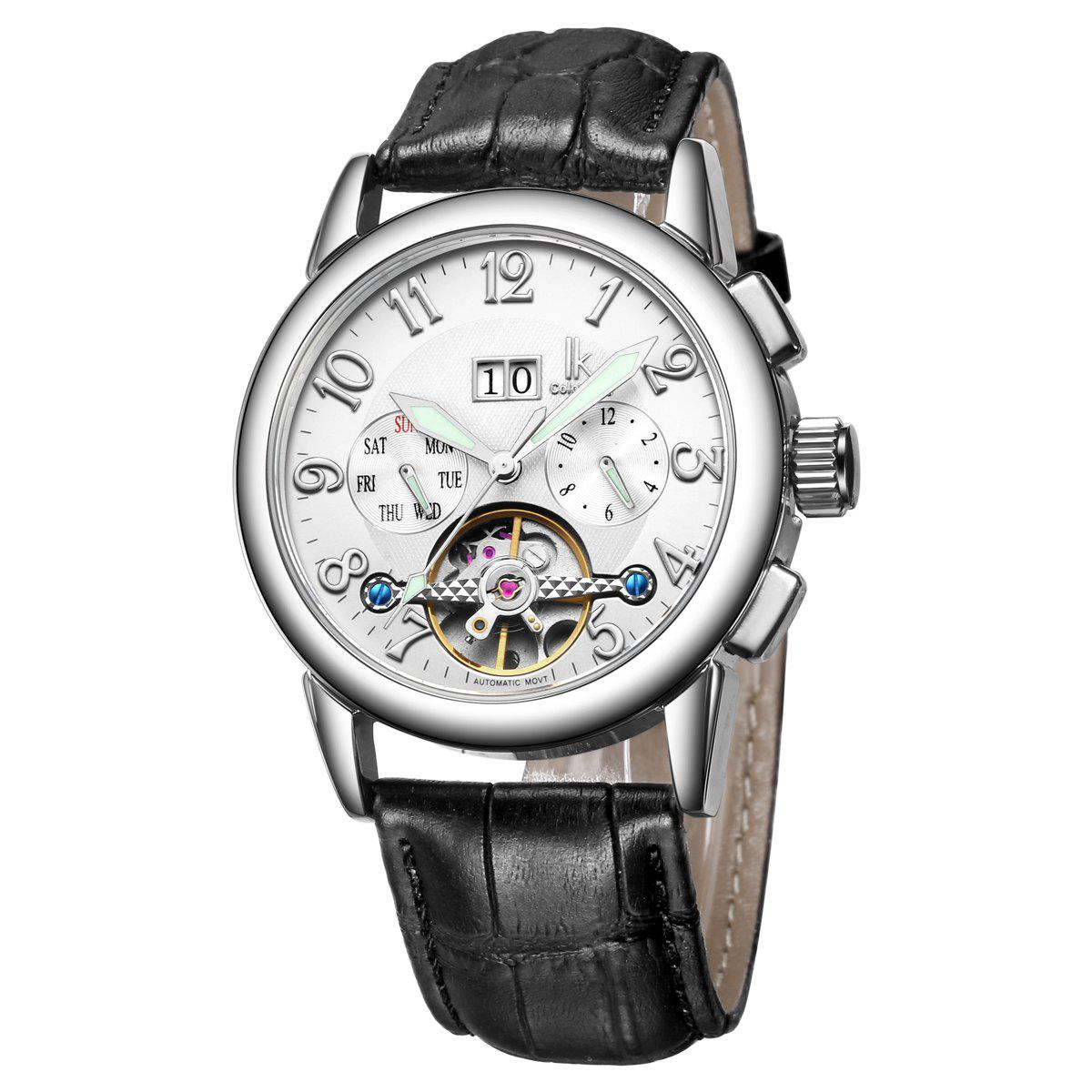 IK COLOURING Business Style Automatic Mechanical Male Watch with Imported Movement -  WHITE