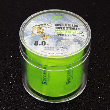 DIAODELAI 500M Super Strong Nylon Fishing Line - NEON GREEN 8