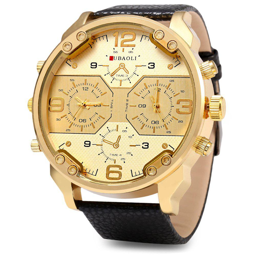 JUBAOLI 1119 Casual Male Quartz Watch with Multiple Sub-dial - GOLDEN