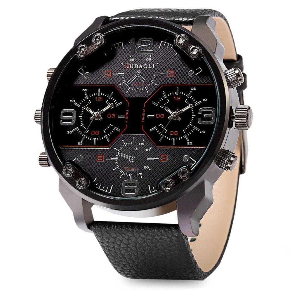 JUBAOLI 1119 Casual Male Quartz Watch with Multiple Sub-dial - RED