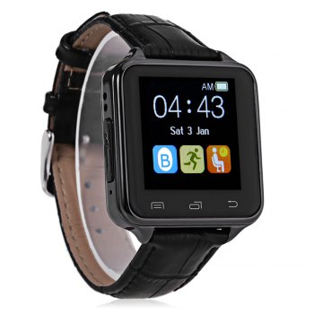 D80 Anti-lost Pedometer Sleep Monitor Smart Watch -  BLACK