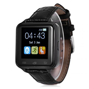 D80 Anti-lost Pedometer Sleep Monitor Smart Watch - BLACK BLACK