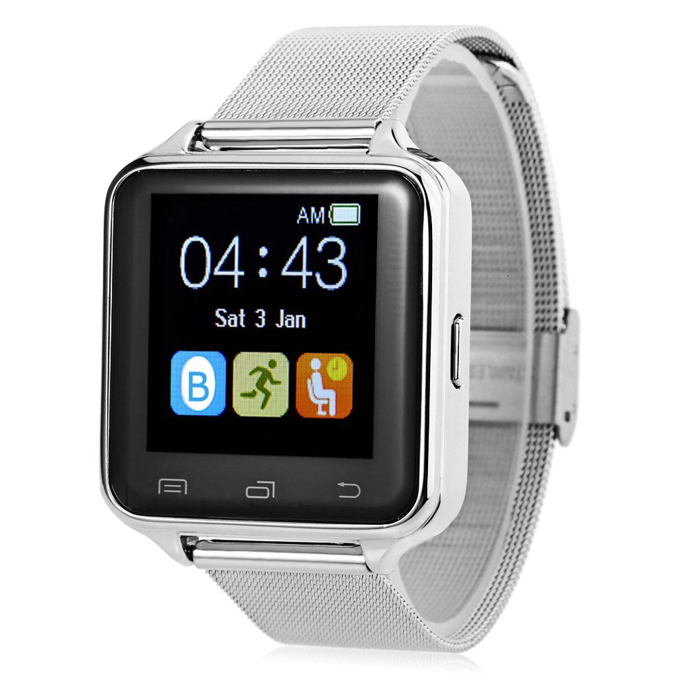 D80 Anti-lost Pedometer Sleep Monitor Smart Watch - SILVER