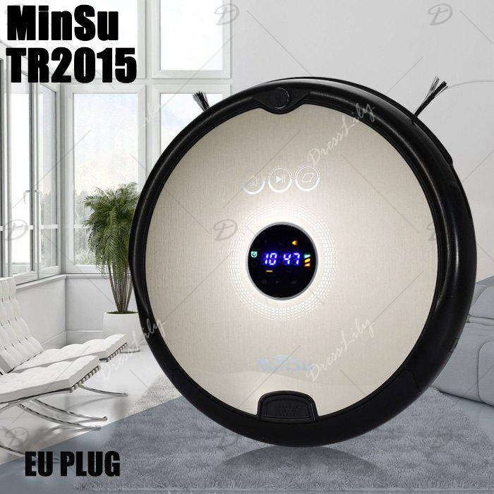 MinSu TR2015 Smart Robotic Vacuum Cleaner Dry Wet Cleaning Machine - CHAMPAGNE EU PLUG
