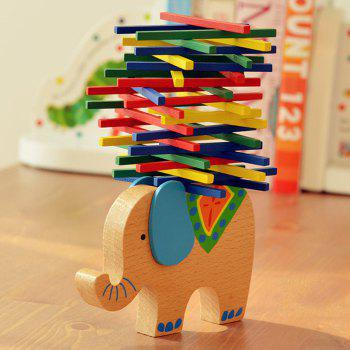 Wooden Elephant Balance Building Block Educational Toy