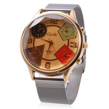 CaiQi A - 507 Fashion Multiple Pattern Dial Quartz Watch for Men