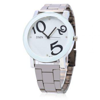 DMN M - 172 Casual Large Number Cute Dial Quartz Watch for Lady