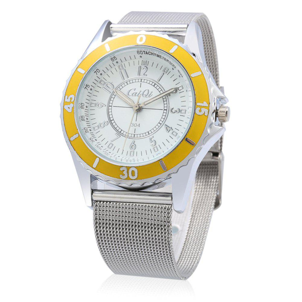 CaiQi A304 Casual Multiple Scales Quartz Watch for Lady, Yellow