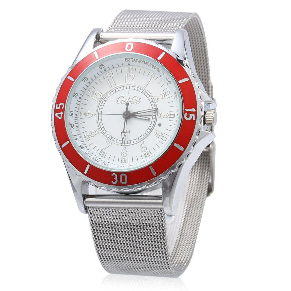 CaiQi A304 Casual Multiple Scales Quartz Watch for Lady, Red