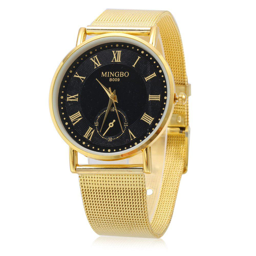 MINGBO B009 Fashion Roman Number Scale Quartz Watch for Female - BLACK