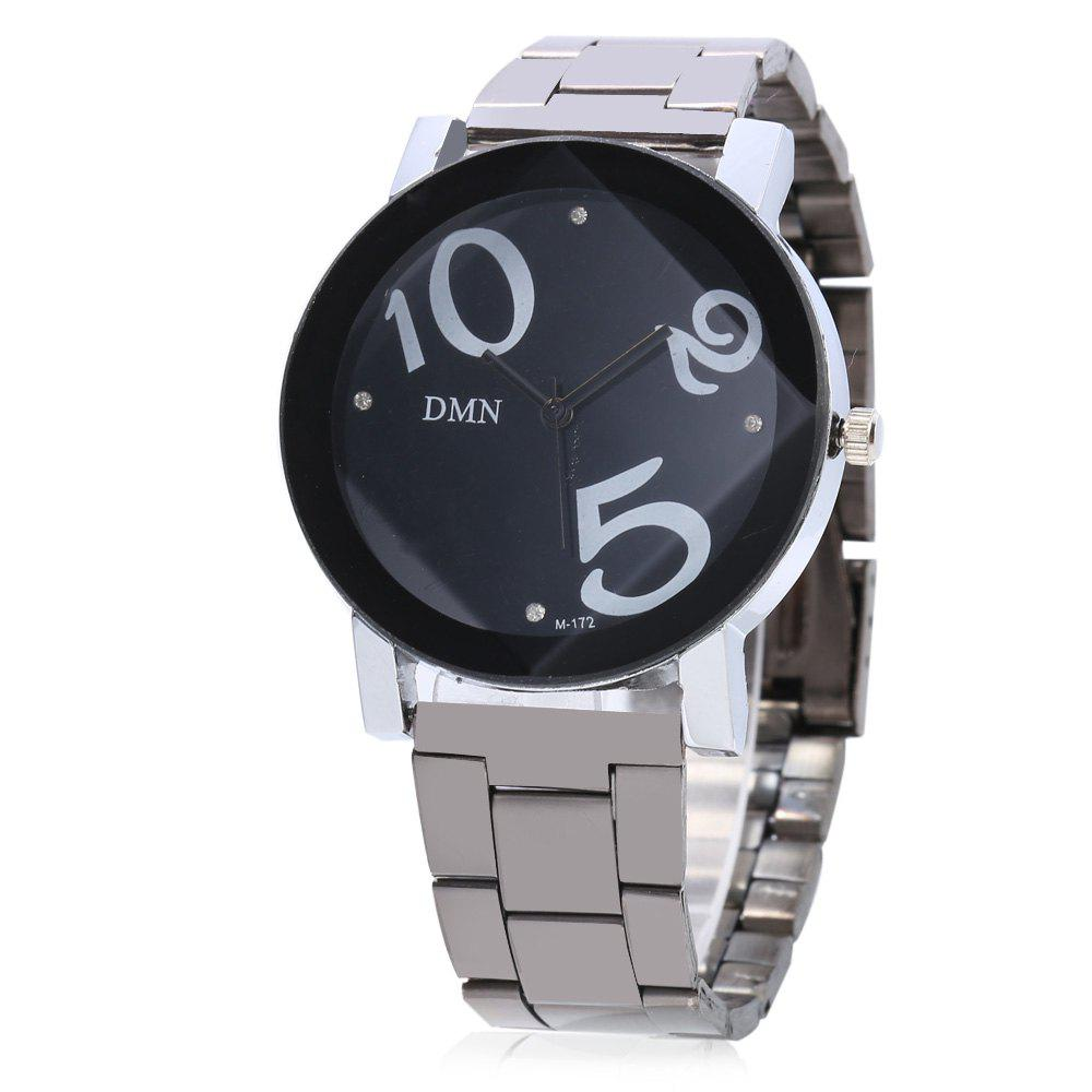 DMN M - 172 Casual Large Number Cute Dial Quartz Watch for Lady - BLACK