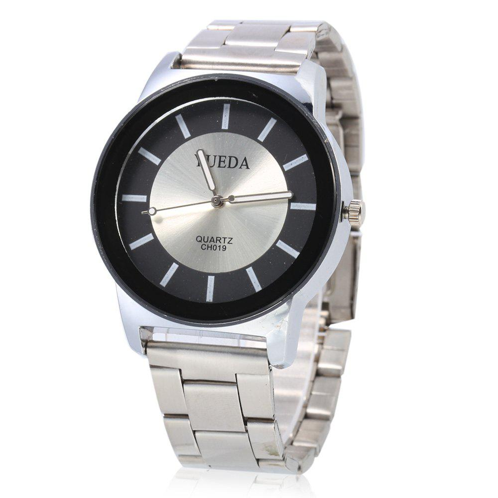 YUEDA CH019 Fashion Nail Scale Quartz Watch for Men -  BLACK