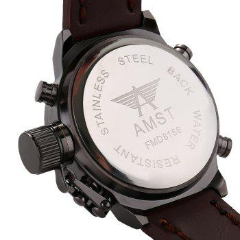 AMST FMD8156 Double Movt Male LED Sports Watch - BLACK