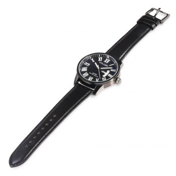 WLQR 8056 Fashion Quartz Watch with Bilingual Display for Men - BLACK
