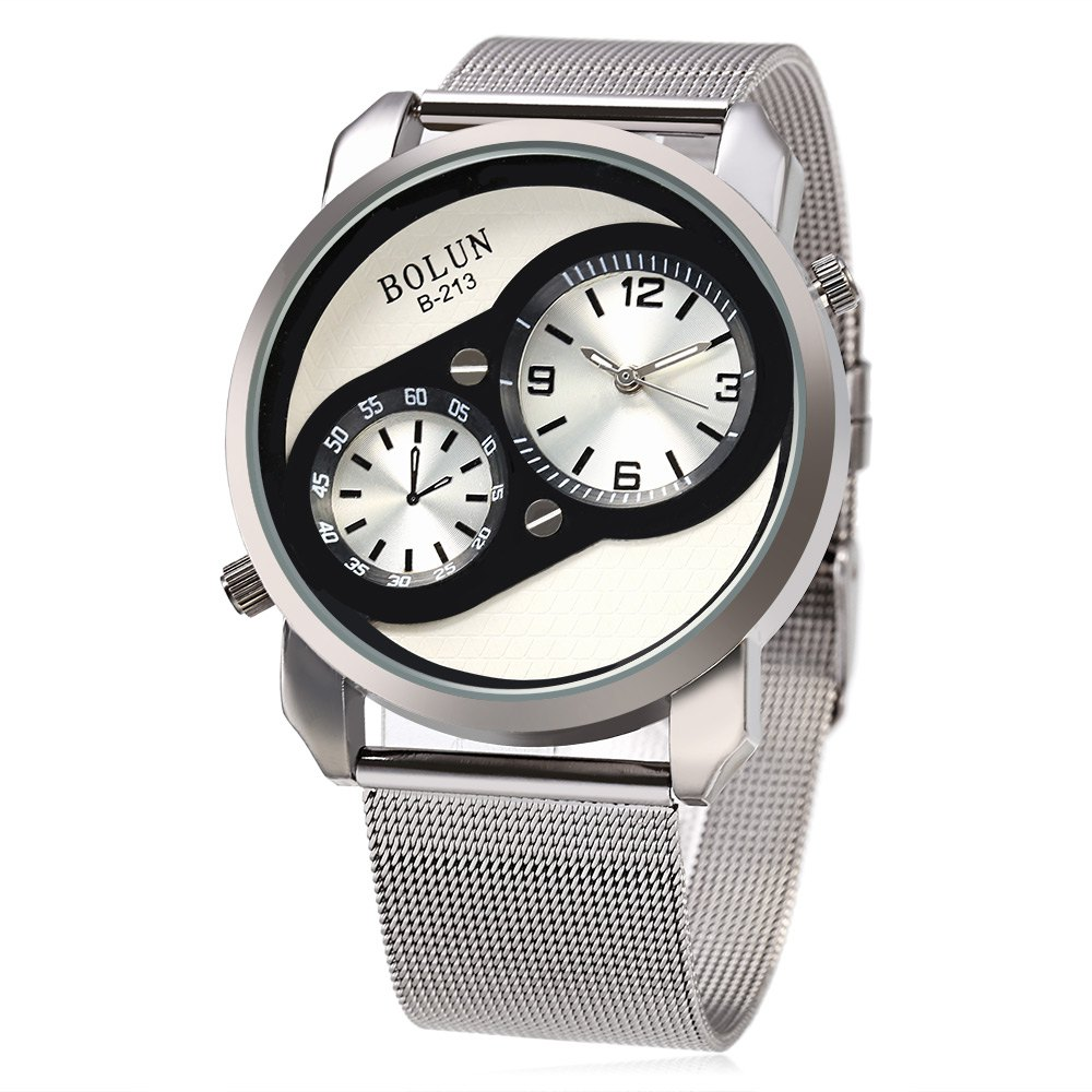 BOLUN B - 213 Fashion Quartz Watch with One Decorative Scale Dial for Men - SILVER