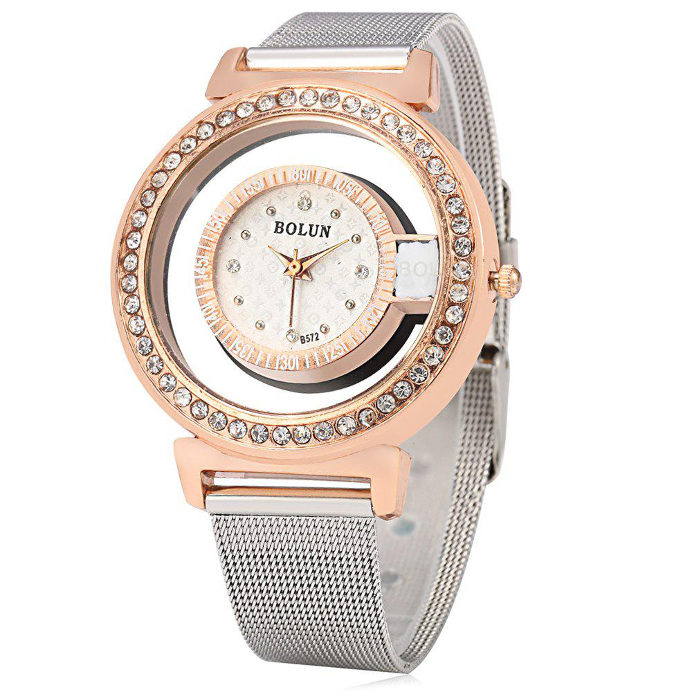 BOLUN B572 Fashion Female Quartz Watch with Diamond Case - GOLDEN