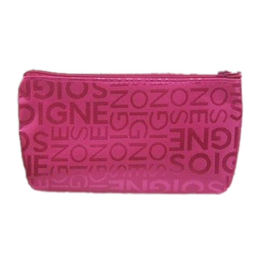 Casual Portable PVC Leather Letter Print Zippered Square Ladies Makeup Bag