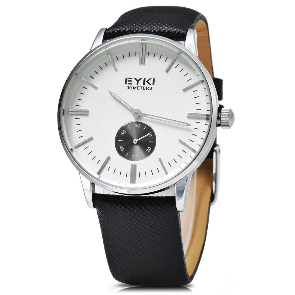 EYKI 1030 Casual Male Quartz Watch with Small Dial - BLACK