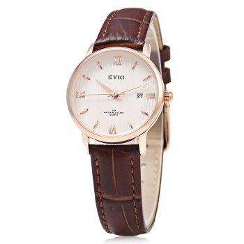EYKI 1002S Casual Mixed Scale Quartz Watch with Stripe Pattern for Women