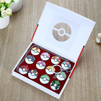 Movie Product Children Key Chain Gift Decor with 12pcs Alloy Badge -  COLORMIX