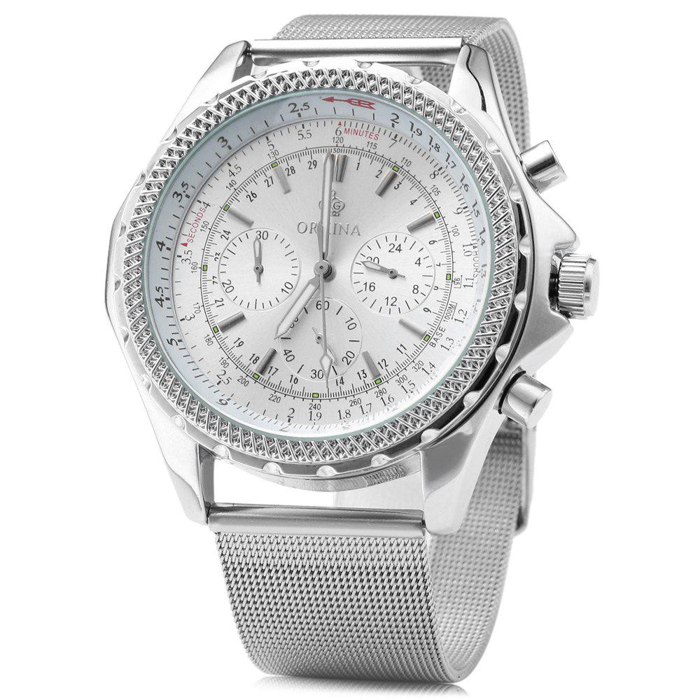 ORKINA ORK - 0429 Business Style Working Sub-dial Quartz Watch for Men - SILVER