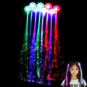 5pcs Colorful LED Luminous Optical Fiber Hair Braid Decoration for Party Stage Performance