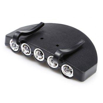 5 LEDs 60LM Clip Hat Light Fishing Lamp with 2 Modes -  BLACK