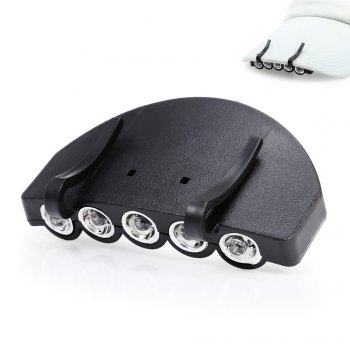 5 LEDs 60LM Clip Hat Light Fishing Lamp with 2 Modes