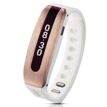 GOLiFE Care Bluetooth 4.0 Smart Wristband with Sleep Monitor Medicine Time Reminder - ROSE GOLD AND WHITE ROSE GOLD/WHITE