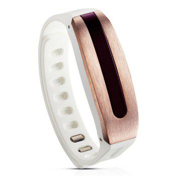 GOLiFE Care Bluetooth 4.0 Smart Wristband with Sleep Monitor Medicine Time Reminder -  ROSE GOLD/WHITE