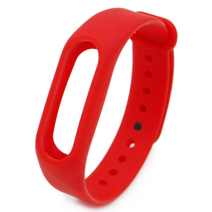 Silicone Watch Band for Xiaomi Miband 2 - RED