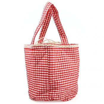 YL125 Warm-keeping Lunch Bag with Draw Cord - ROSE RED