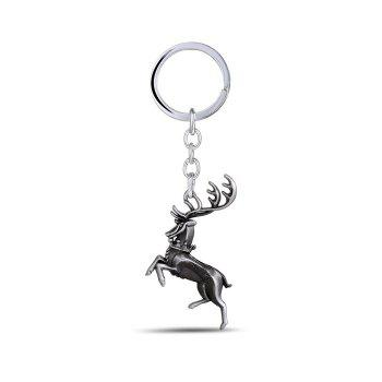 Buck Shape Hanging Pendant Zinc Alloy Key Chain Movie Product Bag Decoration - BLACK + SILVER BLACK / SILVER