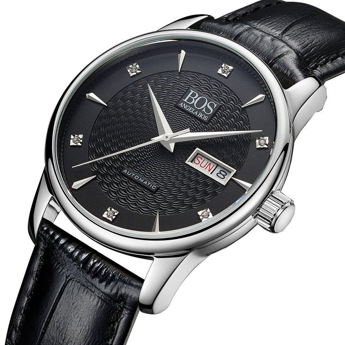 BOS 9016G Sapphire Crystal Mirror Imported Movement Male Automatic Mechanical Watch