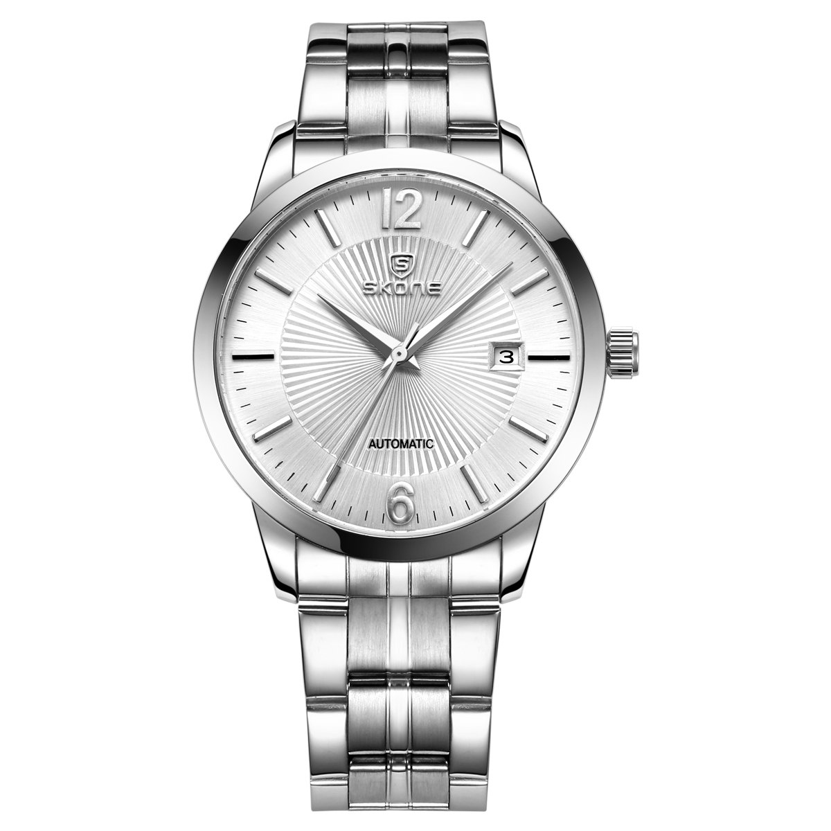 SKONE 1091 Business Male Automatic Mechanical Watch with Calendar