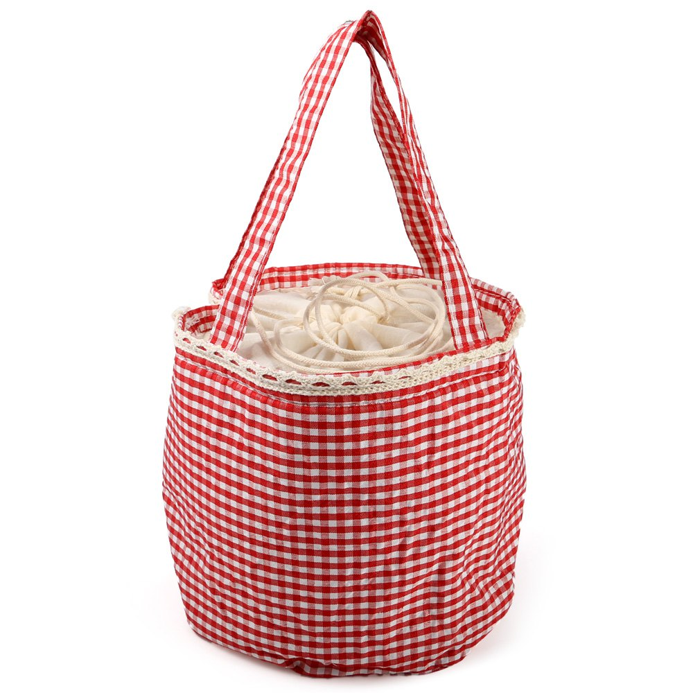 YL125 Warm-keeping Lunch Bag with Draw CordHome<br><br><br>Color: ROSE RED