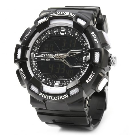 EXPONI 3230 Imported Movement Outdoor Sports Digital Quartz Watch - WHITE