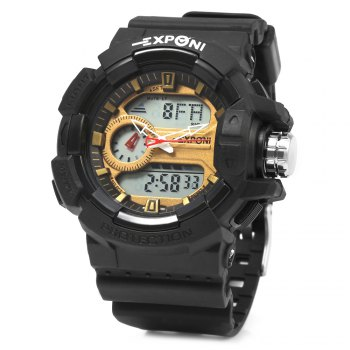 EXPONI 3227 Imported Movement Outdoor Sports Digital Quartz Watch - GOLDEN GOLDEN