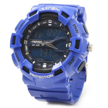 EXPONI 3230 Imported Movement Outdoor Sports Digital Quartz Watch