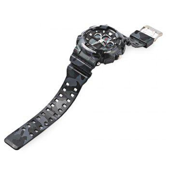 EXPONI 3169 Imported Movement Outdoor Sports Digital Quartz Watch -  WHITE