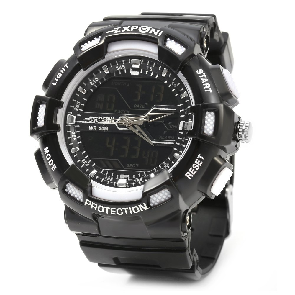 EXPONI 3230 Imported Movement Outdoor Sports Digital Quartz Watch масляный насос