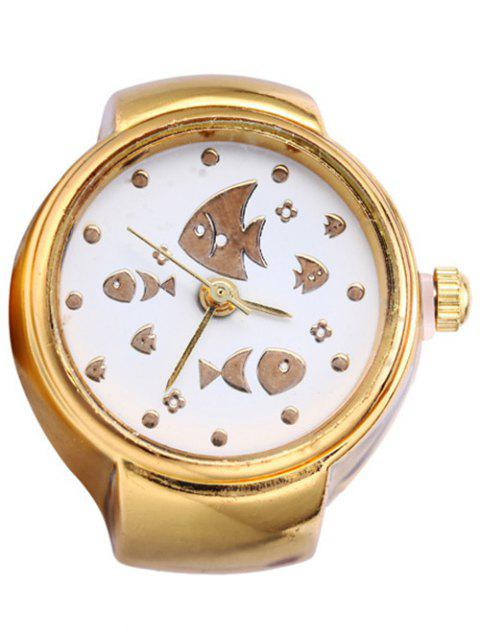 Delicate Tiddler Ring Watch - GOLDEN