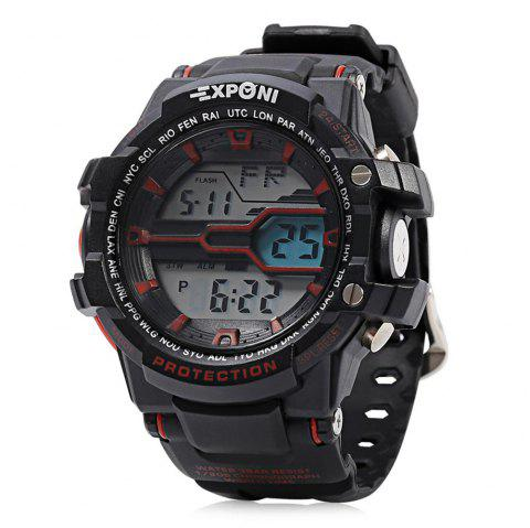 EXPONI 3205 Imported Movement Outdoor Sports Digital Watch - RED/BLACK