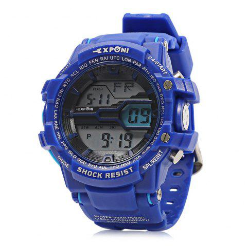 EXPONI 3205 Imported Movement Outdoor Sports Digital Watch - DEEP BLUE