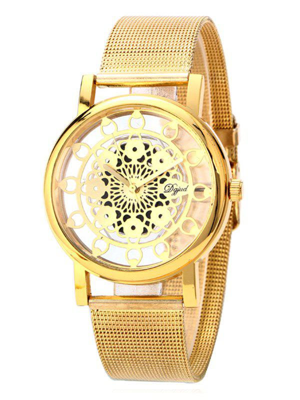 Vintage Blossom Hollow Out Watch - GOLDEN