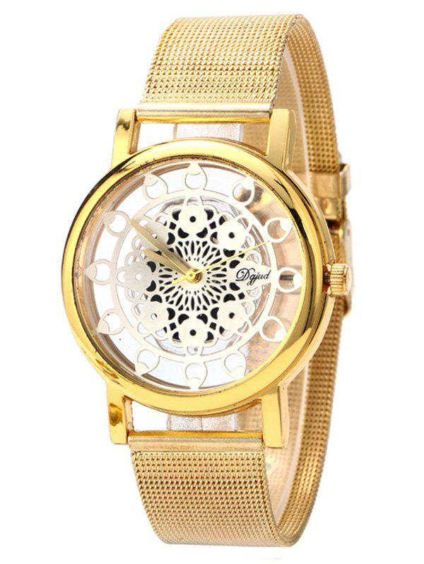 Vintage Blossom Hollow Out Watch - SILVER/GOLDEN