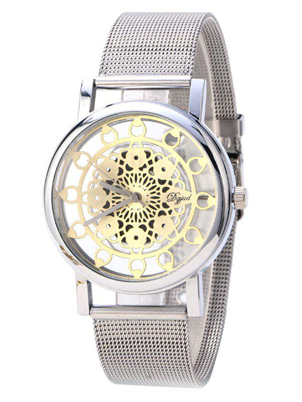 Vintage Blossom Hollow Out Watch - SILVER